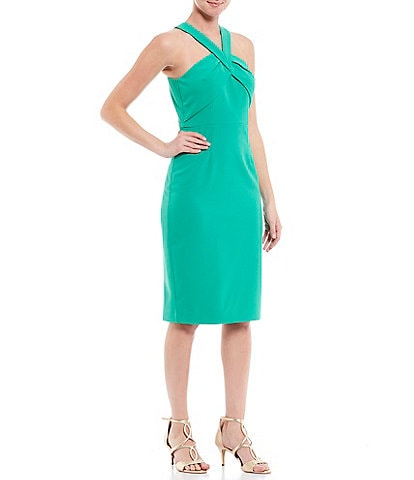 Vince Camuto Sleeveless Halter Sheath Dress