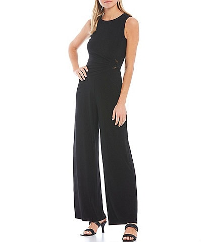 Vince Camuto Sleeveless Ring Wide Leg Jumpsuit