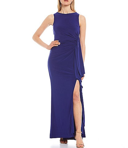 Vince Camuto Sleeveless Ruffled Skirt Gown