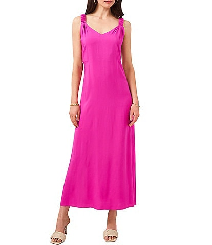 Vince Camuto Sleeveless Scrunched Strap Maxi Dress