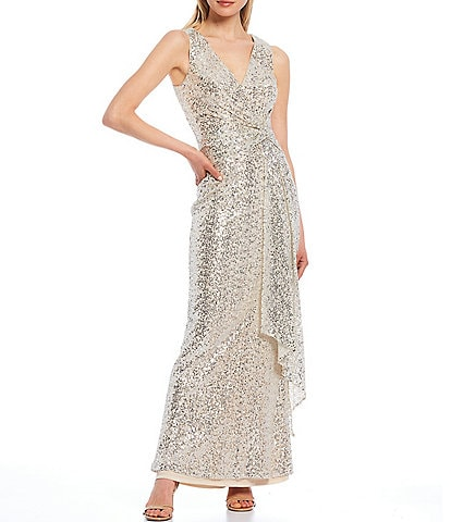 Vince Camuto Sleeveless Sequined Gown