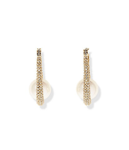 Vince Camuto Small Pave Hoop Earrings