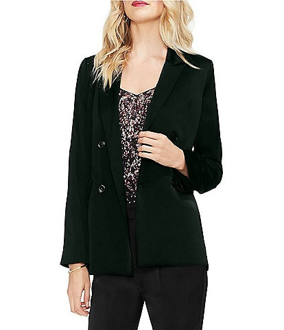Vince Camuto Soft Satin Double Breasted Blazer