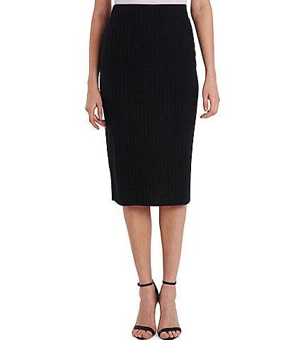 Vince Camuto Solid Pull-On Knit Pencil Skirt