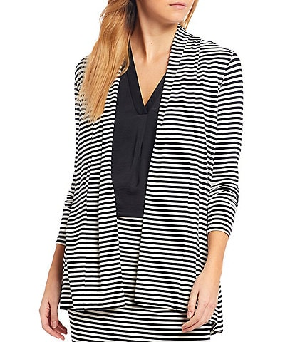 Vince Camuto Striped Long Sleeve Tunic Knit Cardigan