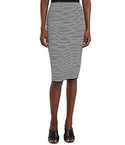 Vince Camuto Striped Midi Tube Skirt