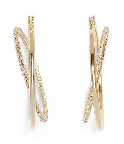 Vince Camuto Two Row Hoop Earrings