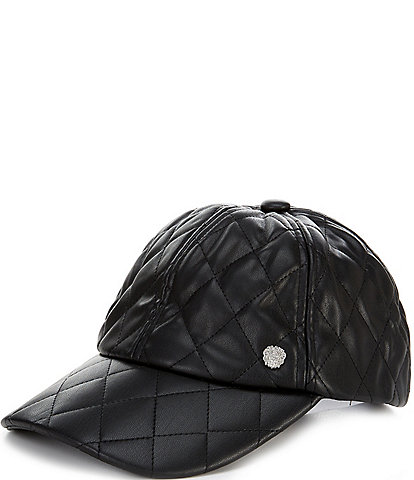 Vince Camuto Vegan Leather Quilted Baseball Cap