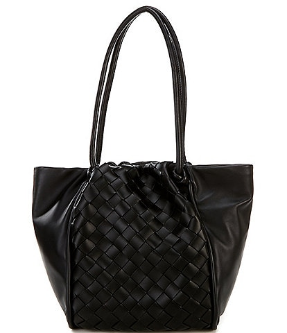 Vince Camuto Woven Leather Jude Tote Bag