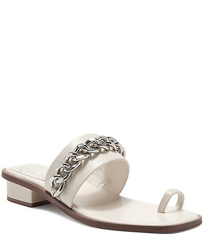 Vince Camuto Yamell Leather Chain Link Detail Dress Sandals