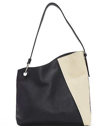 Vince Camuto Yulia Leather and Suede Hobo Bag