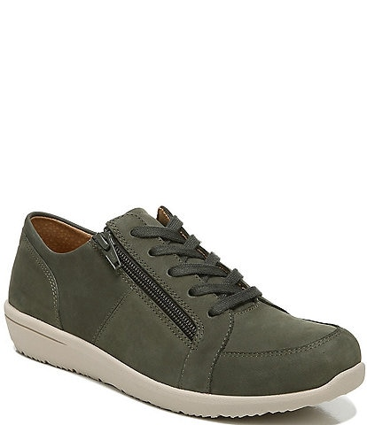Vionic Abigail Nubuck Leather Lace-Up Zip Sneakers