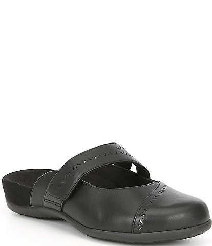 Vionic Allegra Leather Banded Mules