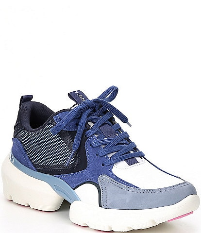 Vionic Aris Leather Suede Lace-Up Sneakers