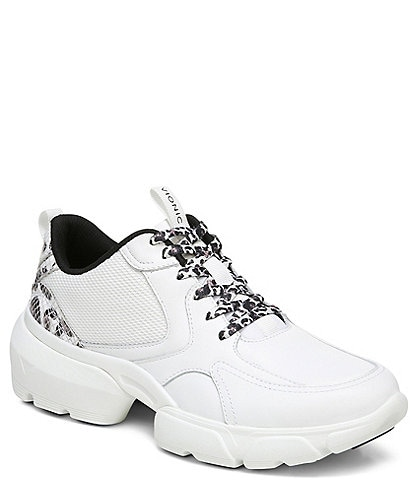 Vionic Aris Leopard Leather Lace-Up Sneakers