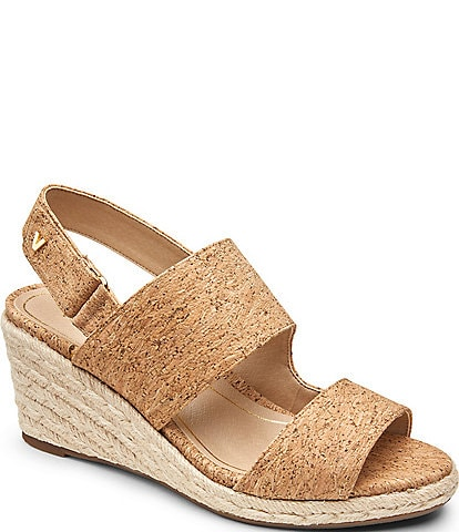 Vionic Brooke Cork Espadrille Wedges