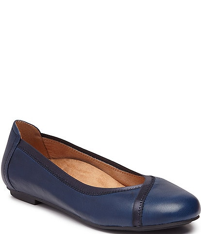 Vionic Caroll Leather Ballet Flats