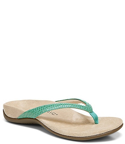 Vionic Dillion Lizard Print Post Sandals