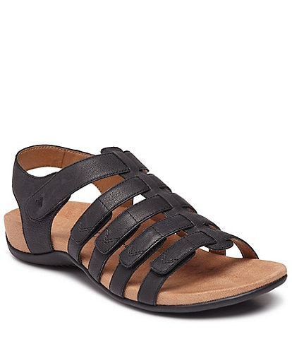 c2b3adfccb7d Vionic Harissa Leather Banded Sandals
