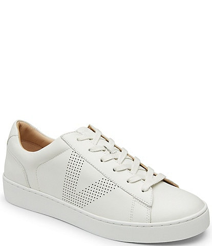 Vionic Honey Leather Lace-Up Flatform Sneakers