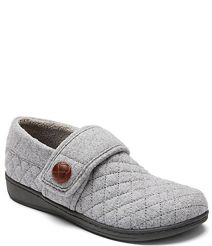 Vionic Jackie Flannel Quilted Slippers