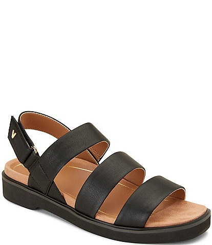 Vionic Keomi Leather Block Heel Sandals