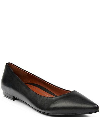 Vionic Lena Napa Leather Ballet Flats