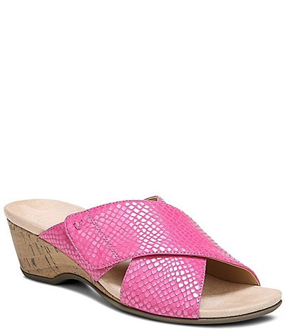 Vionic Leticia Lizard Cross Band Sandals