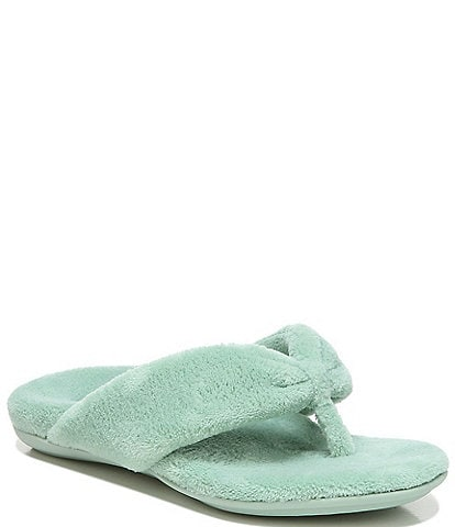 Vionic Lydia Washable Plush Terry Cloth Thong Slippers