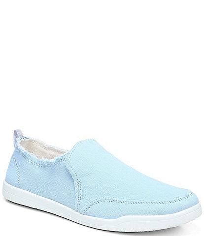 Vionic Malibu Canvas Frayed Washable Slip-On Sneakers