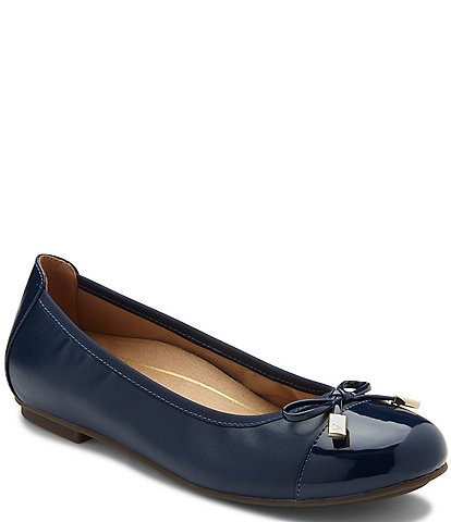 Vionic Minna Leather Ballet Flat