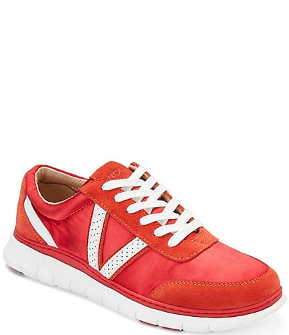 Vionic Nana Satin Leather Lace-Up Sneakers