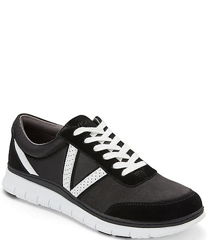 Vionic Nana Satin & Leather Sneakers