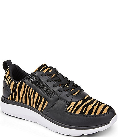 Vionic Remi Tiger Print Suede Sneakers