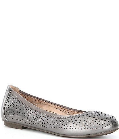 Vionic Robyn Perforated Leather Ballet Flats