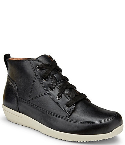 Vionic Shawna Water Resistant Leather Sneaker Booties