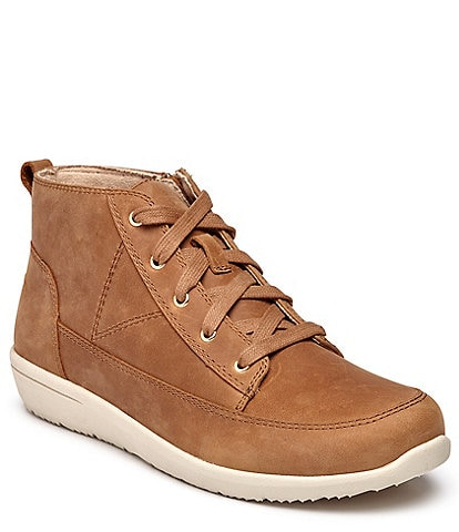Vionic Shawna Waterproof Nubuck High Top Sneaker Booties