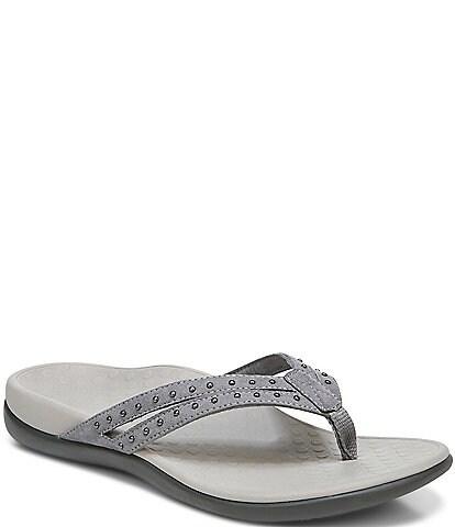 Vionic Tasha Studded Detail Thong Sandals