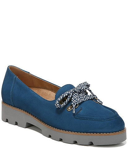 Vionic Teagan Nubuck Leather Lace-Up Oxford Loafers