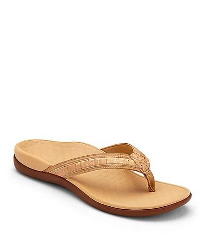 Vionic Tide II Leather Flip-Flops