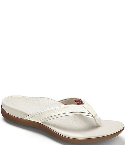 ac01eb8a0 Vionic Tide II Leather Flip-Flops