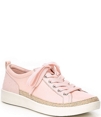 Vionic Winny Embossed Leather Lace-Up Sneakers