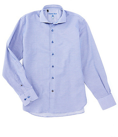 Visconti Big & Tall Textured Easy-Care Long-Sleeve Woven Shirt