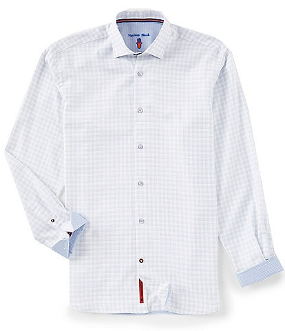 Visconti Check Textured Long-Sleeve Woven Shirt