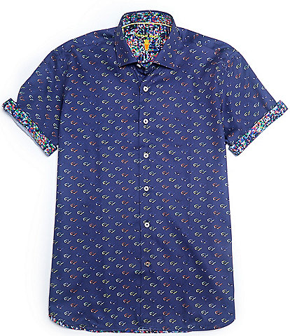 Visconti Sunglasses Print Short-Sleeve Woven Shirt