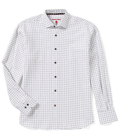 Visconti Windowpane Long-Sleeve Woven Shirt