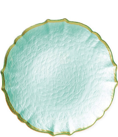 Viva by VIETRI Pastel Glass Salad Plate