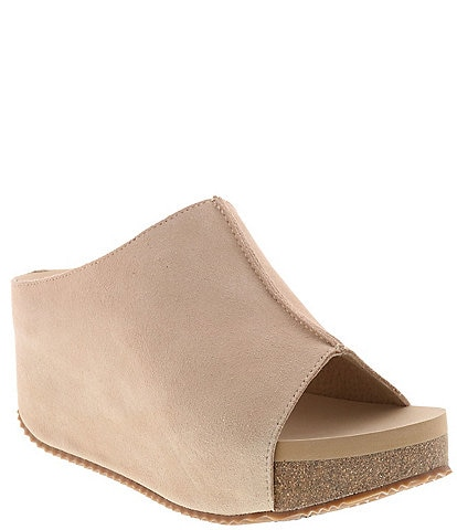 Volatile Connect Suede Slip On Wedges