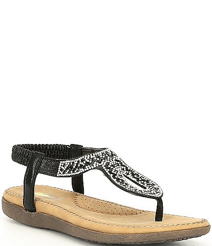 Volatile Cozi Jewelled Thong Sandals