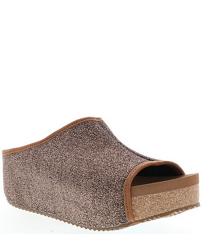 Volatile Festina Metallic Platform Wedge Sandals